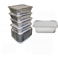 China 8011 Disposable Aluminium Foil Trays , Disposable Microwavable Foil Containers on sale