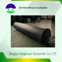 China Grab Tensile Geotextile Fabric For Roads , Black 136g Woven Polyethylene Fabric wholesale