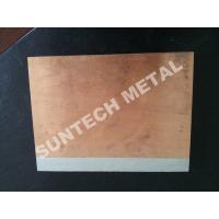 China C1020 / A1050 Aluminum Copper Clad Plate , Explosion Cladded Plate wholesale