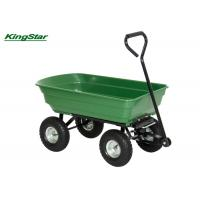 Buy cheap Family Heavy Duty Garden Cart , 50L Four Wheel Garden Trolley Wheelbarrow from wholesalers