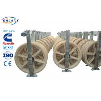 China Nylon Wheel Wire Pulling Blocks , 3 Sheave Galvanized Steel Wire Pulling Pulley wholesale