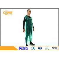 China Breathable Disposable Plastic Aprons PE Smock / Overall Full Body Protection wholesale