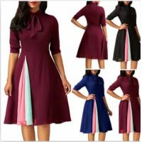 Buy cheap Sexy Summer Ladies Casual Beach Dresses Tie In Dresses Half Sleeve Length from wholesalers