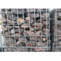 China Square / Oblong Hole Galvanized Gabion Box , Welded Gabion Wall Cages 1 X 1 X 1 M wholesale