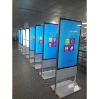 China 1920x1080DPI 55in Floor Standing Digital Signage 500cd/m2 wholesale