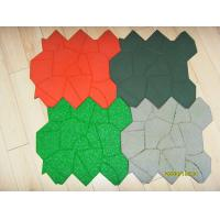 China Kids Safety Playground Rubber Mats / Outdoor Rubber Play Mats Green wholesale