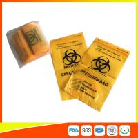 Quality Laboratory Biohazard Specimen Transport Bags Reclosable 3/4 Layer Yellow Color for sale