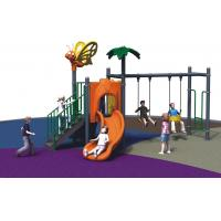 China Kindergarten Freestanding Playground Equipment Child Outdoor With Swing And Slide wholesale