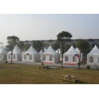 White canvas pagoda party tent for outdoor activities clear roof top