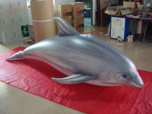 China 1.5m Long Airtight Dolphin Shaped Swimming Pool Toy Display In Showroom wholesale