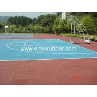 China play area rubber tile wholesale