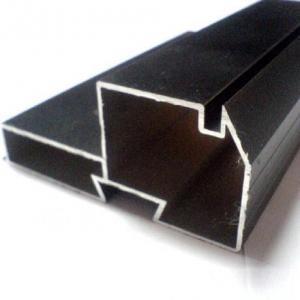 China Black Powder Coated RAL9006 Aluminium LED Profiles / Aluminum Extrusion Profiles wholesale