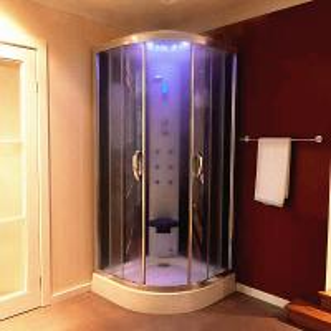 China Multi Function Massage Steam Shower Bath Cabin Mirror Glass Back Wall wholesale