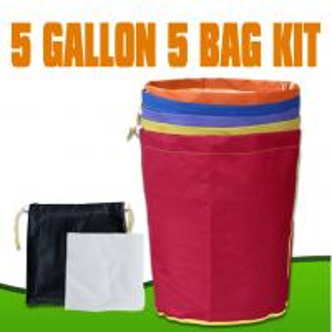 China Hydroponics Bubble hash Bag Extraction 5 Gallon 5 Bag Kits wholesale