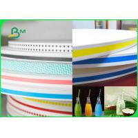 Buy cheap 15MM 60gsm Straw Wrapping Paper Roll With Striped Color Print Food Grade Fully from wholesalers