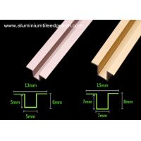 China Anodized Colored Aluminium Tile Edge Trim / Tile Divider Trim For The Wall wholesale