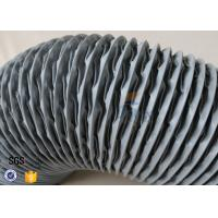 Buy cheap PVC Coated Glass Fibre Flexible Air Ducting 200MM Diameter 5 Meters 260℃ from wholesalers