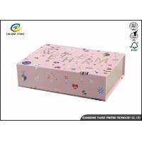 China Newly Design Folding Gift Boxes Charming Pink Printing Easy Disassembled on sale