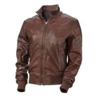 China 48 S M Knitted 100% lamb skin soft Leather Jacket polyester Lining for mens customized on sale