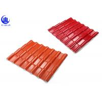 China Warehouse Synthetic Spanish Roof Tiles Acoustic Insulation Corrosion Resistance wholesale