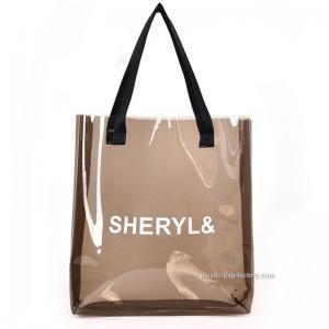 China Women's Clear Tote Shoulder Bag Transparent PVC Tote Handbag for Travel & Gym wholesale