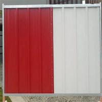 Buy cheap ISO9001 Steel Temporary Site Hoarding Fence Panels In Construction Sites from wholesalers