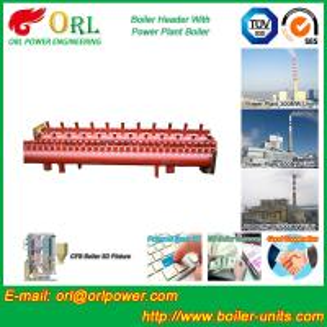 China Low Loss Boiler Header Manifolds / Boiler Steam Header Non Pollution wholesale