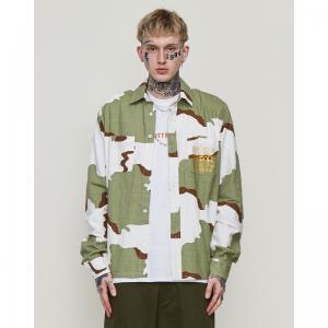 China Green Hawaiian Floral Digital Print Shirt Regular Fabric wholesale