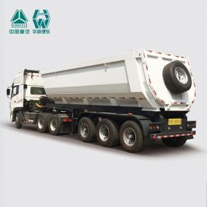 China FUWA 13T Axle Bulk Tipper Trailer , Full Braking Semi Dump Trailers on sale