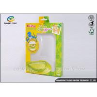 Quality Green / Yellow Foldable Gift Boxes Eco Friendly PVC Window For Children Bowl for sale