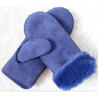 China shearling lamb fur leather gloves hand sewing lady sheepskin 2019 mitten on sale