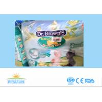 China Chemical Free Non Toxic Healthy Dr Brown Infant Baby Diapers , Cotton Backsheet on sale