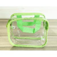 China Simple Girl Transparent PVC Cosmetic Bags Clear Vinyl Travel Kit wholesale
