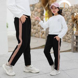 China 95% Cotton 5% Spandex Girls Elastic Waist Pants 120cm To 160cm wholesale