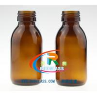 China 100ml amber glass bottle for syrup DIN 28MM on sale