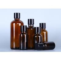 Buy cheap Brown Small Glass Oil Bottles , Essential Oil Glass Bottles With Various Lid from wholesalers