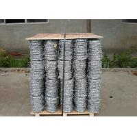 China Anti Climb Cross Wire Fence Sharp Coiled Barbed Wire For Government Buildings wholesale