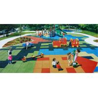 Quality Outdoor Playground Rubber Mats / Poured Rubber Playground Surface for sale