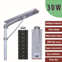 China Outdoor LED Solar Powered Street Lights With Inbuilt Battery And Panel on sale