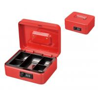 China Colored Metal Cash Box Coin Storage Safe Security Box Holder Suitcase With Combination Lock wholesale