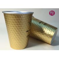 Buy cheap 12oz Diamond Shape Ripple Wall In Double Wall Layer Paper Cup With Lid from wholesalers