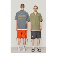 China Soild Colors Personalised Oversize Men Shirts Knitted Hip Hop Shirts For Men wholesale