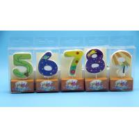 China Lovely 0-9 Number Birthday Candles Set With Glitter Decoration Smokeless wholesale