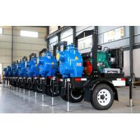 China Trailer Mobile Horizontal air cooling diesel engine fire pump self-priming water Single Suction wholesale