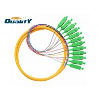 Buy cheap Customized Length Optic Fiber Pigtail SC APC Connector PVC LSZH Jacket from wholesalers