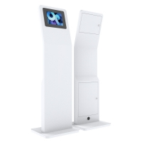 """China 12.9"""" SPCC Floor Standing LCD Kiosk PC Stand Rotating Enclosure wholesale"""
