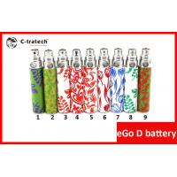 China Green Ego Cigarette Battery , 350mah 500 Puffs Ego D Battery on sale