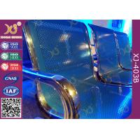 China Chrome Finished Metal Structure Waiting Area Chairs For Bank / Bus Station wholesale
