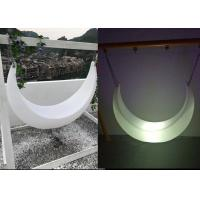 China Outdoor LED Light Furniture , Mood Shaped Led Swing Light Chair wholesale