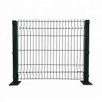 Buy cheap 3d Galvanized Welded Boundary Wall Wire Mesh Fence Panel With Gate In Green from wholesalers